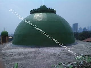perbaikan bocor kubah masjid
