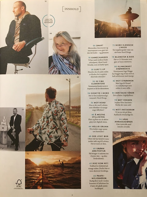 Innholdsfortegnelse i Infinitum magasinet 8/2018  Et magasin om bærekraftig livsstil