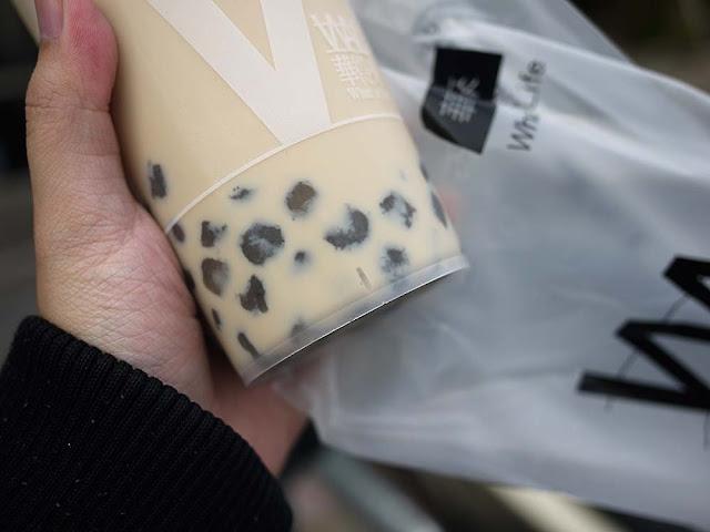 P1300850 - 清水飲料店推薦│在地人推薦的華得來飲料店,混珍珠鮮奶茶有芝麻珍珠真特別
