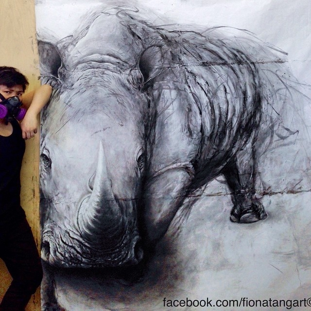 06-Rhino-Fiona-Tang-2D-Sketches-that-Become-3D-Animals-www-designstack-co