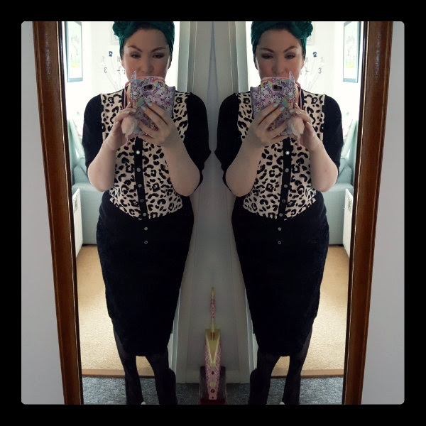 ootd star by julien macdonald leopard cardigan primark pencil skirt