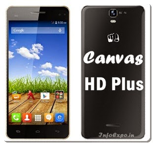 Micromax A190 Canvas HD Plus: 5-inch HexaCore KitKat Specs and Price