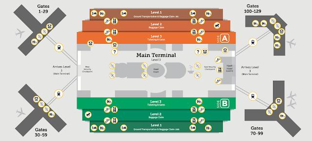 Mapa do aeroporto de Orlando