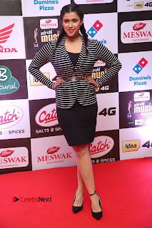 Actress Mannara Chopra Pictures at Mirchi Music Awards South 2015  0048.JPG