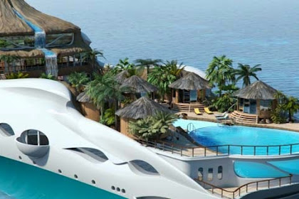 Luxury Tropical Island Yacht Concept : A Private Paradise