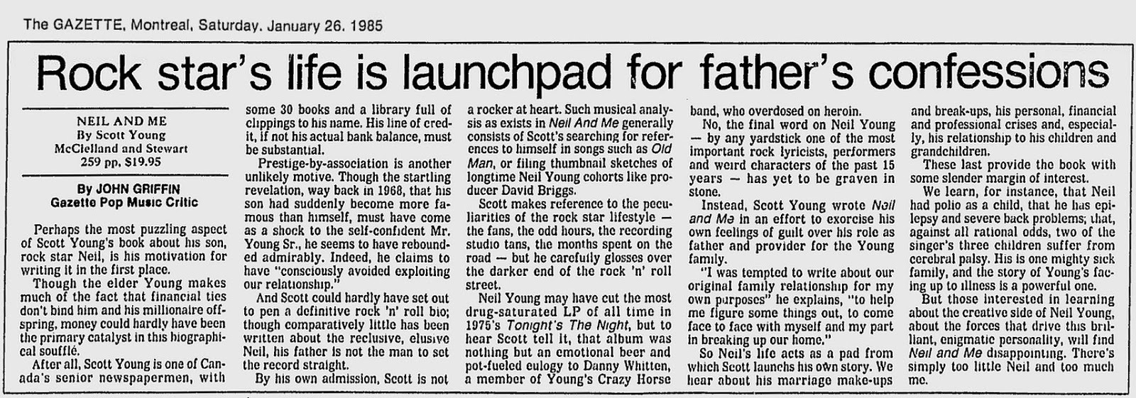 Montreal Gazette, Mai 1985