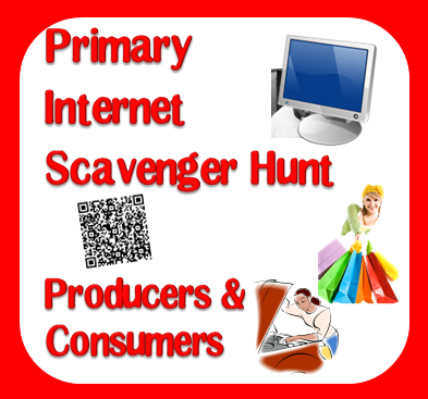 Free internet scavenger hunt on producers and consumers for primary students - from Raki's Rad Resources.