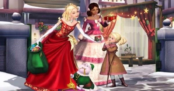 regarder un film de barbie et la magie de no l 2008 films de barbie princesses. Black Bedroom Furniture Sets. Home Design Ideas