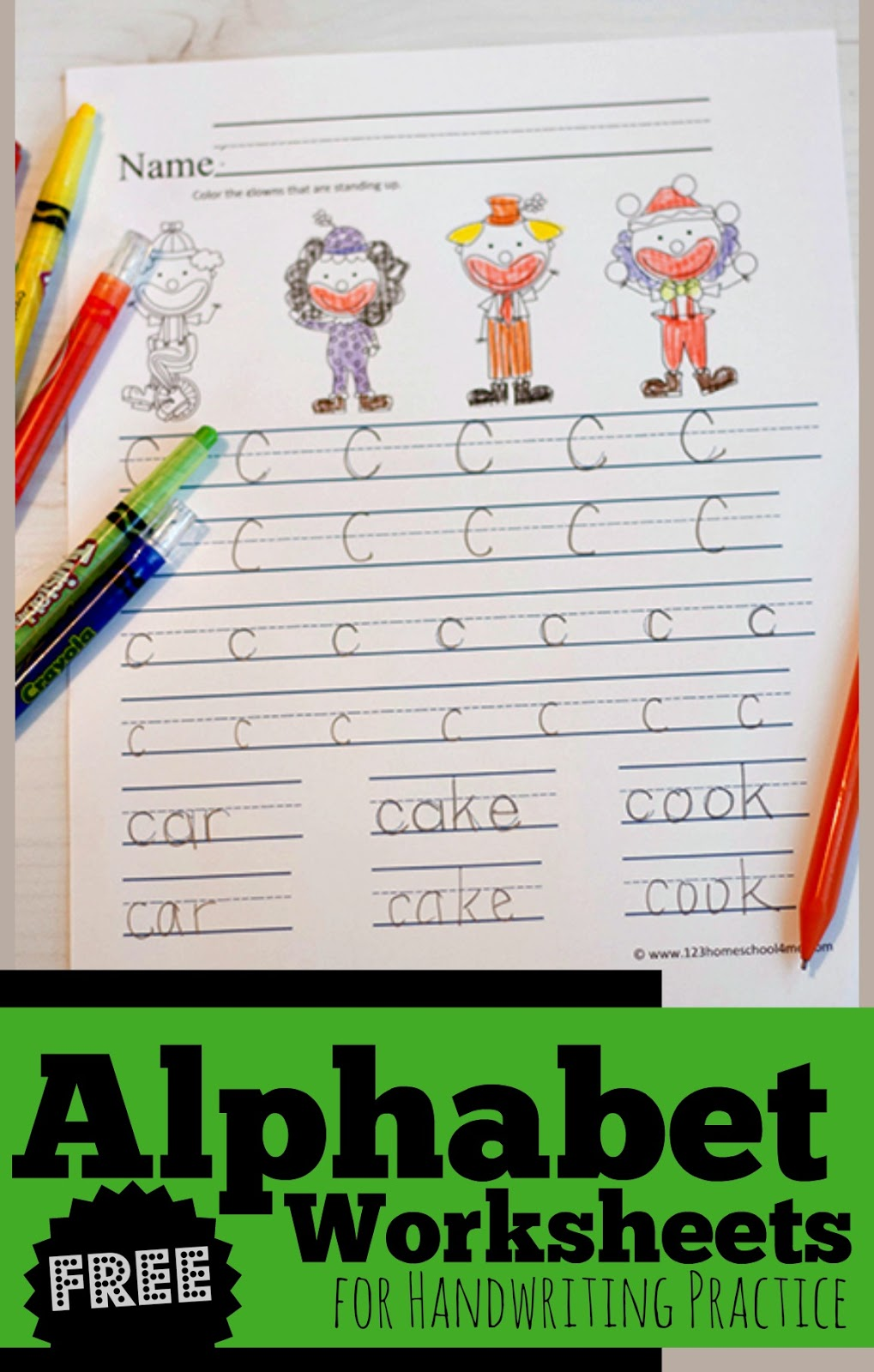 FREE Alphabet Worksheets for Handwriting Practice | 123 ...