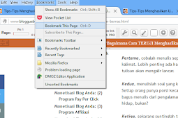 CARA RESTORE DAN BACKUP DATA BOOKMARK PADA MOZILLA