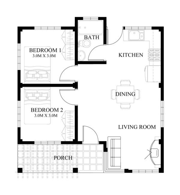 40 small house images designs with free floor plans lay for 8 sqm room design