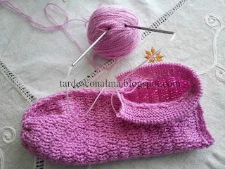 DIY tutorial paso a paso fácil barato calceta 2 agujas agujas circulares lana