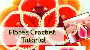 Cómo Tejer Flores Hermosas y Super Fáciles / Tutorial Crochet