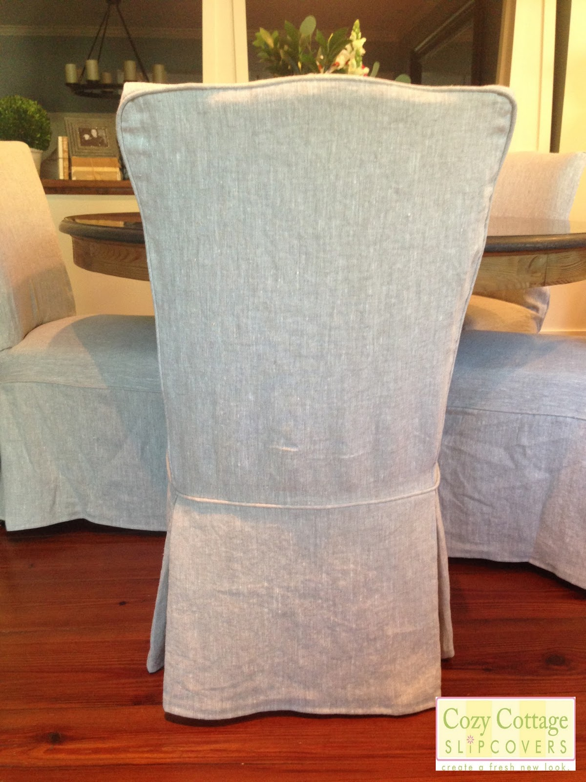 Rustic Dining Room Chair Covers Cover Rentals Rochester Ny Cozy Cottage Slipcovers Linen
