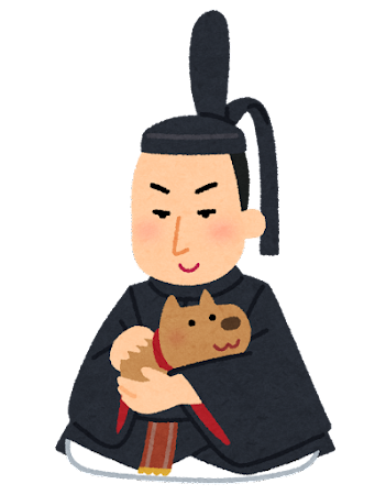 徳川綱吉の似顔絵イラスト