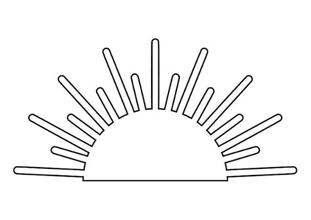 Dibujo de un Puesta de sol para pintar