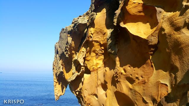 Roca del valle de Jaizjibel y el mar de fondo