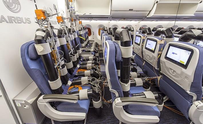 La innovación en materiales para asientos permitirá también una mejor experiencia de vuelo para los pasajeros y también mayor conectividad. (Foto: Airbus)