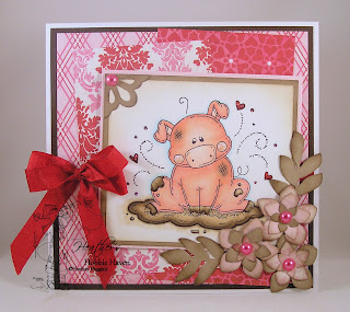 Heather's Hobbie Haven Piggy Bath Card Kit