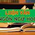 Luận án Tiến sĩ, Luận văn Thạc sĩ ngành Ngôn ngữ học (phần 3)