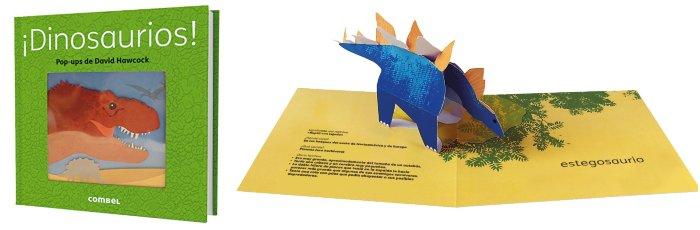 libro informativo pop-up dinosaurios combel