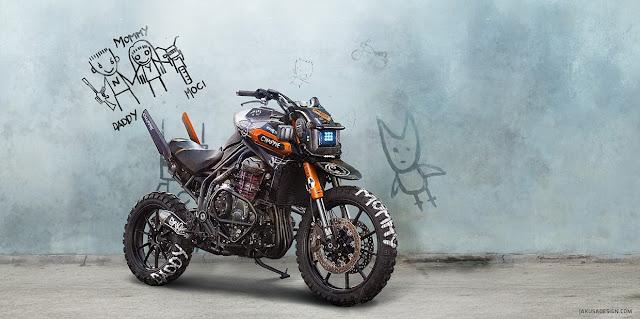 Triumph Chappie Concept by Tamas Jakus