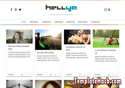 hellya blogger template