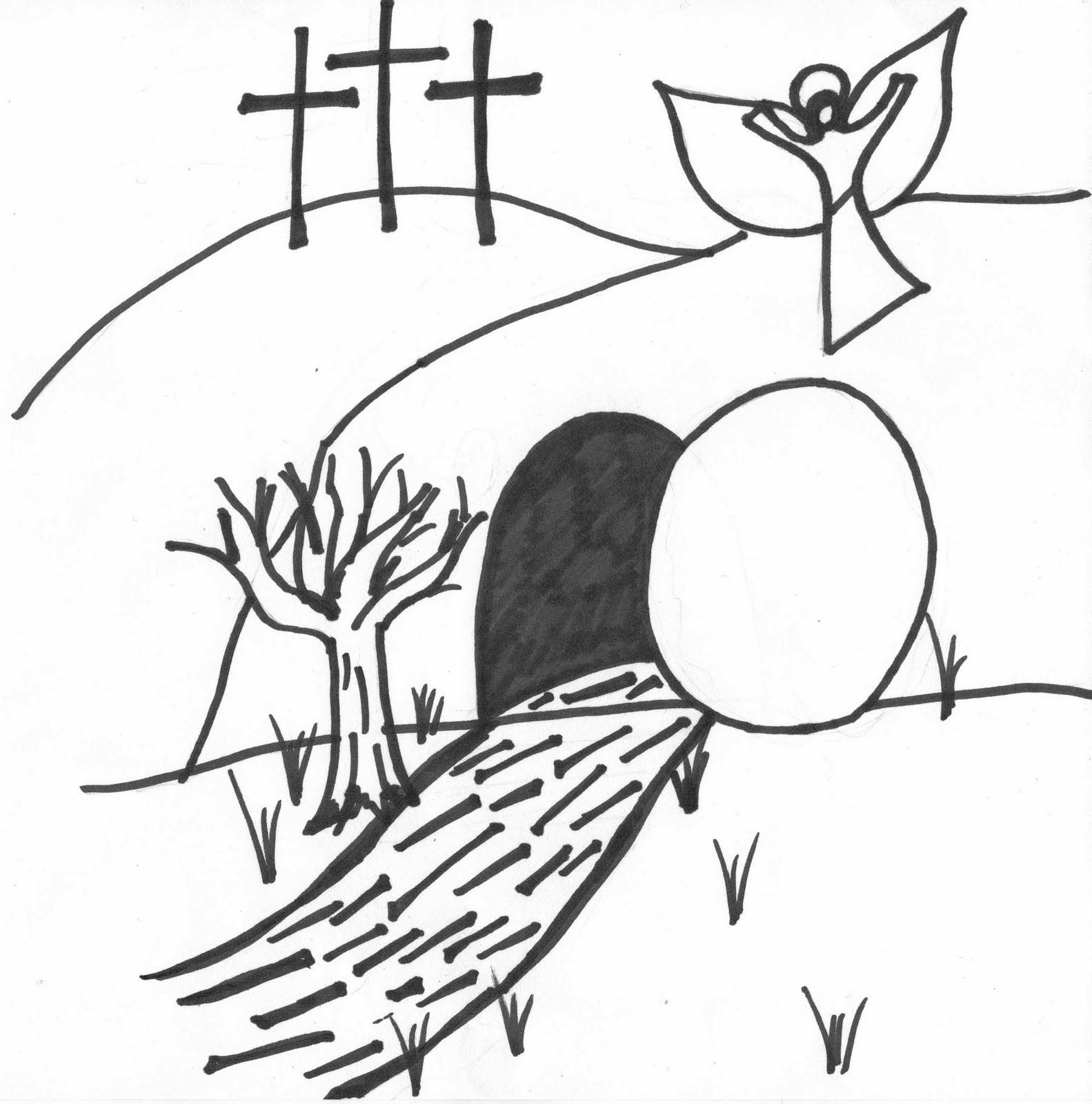Jesus empty tomb coloring page sketch coloring page for Jesus empty tomb coloring pages