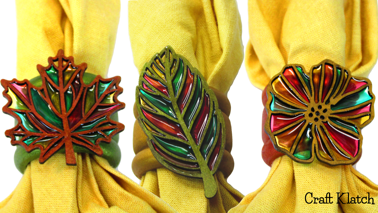 Craft klatch for Diy fall napkin rings