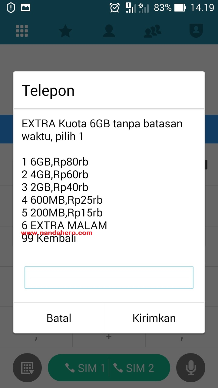 Daftar Paket Internet Freedom Combo Extra Indosat Terbaru 2018 M