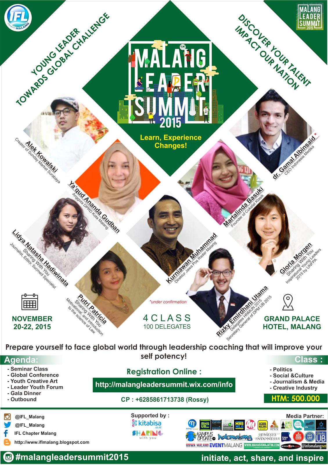 Poster Malang Leader Summit 2015