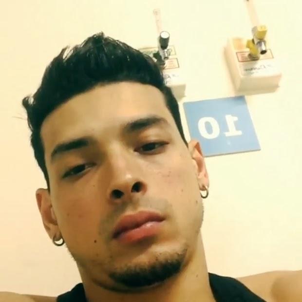 Felipe Franco recebeu soro na veia em um pronto-socorro. Foto: Reprodução