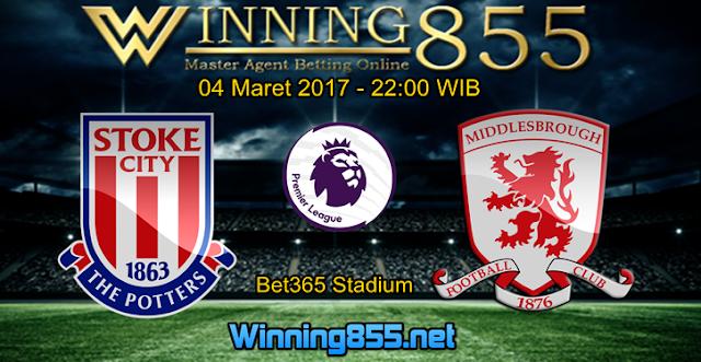 Prediksi Skor Stoke City vs Middlesbrough 04 Maret 2017