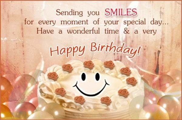 Happy Birthday wishes for Friend with smile cake image