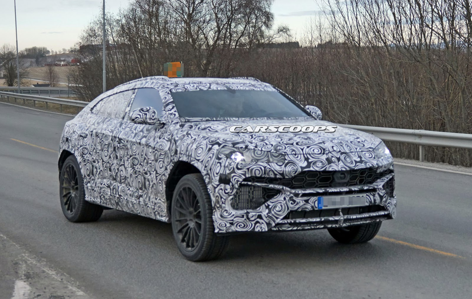 2018 Lamborghini Urus Suv Spied In Production Trim Stays