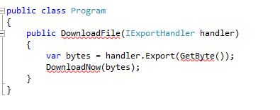 Dependency Injection code sample2