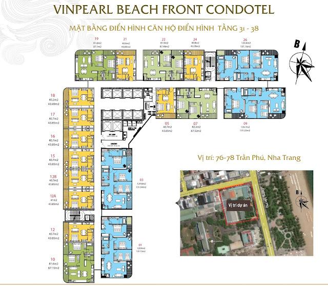 Mặt bằng căn hộ tầng 31 - 38