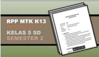 RPP Matematika SD K13 Revisi 2017