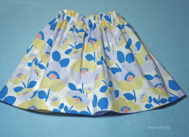 Easy to make gathered skirts for girls ~ Threading My Way