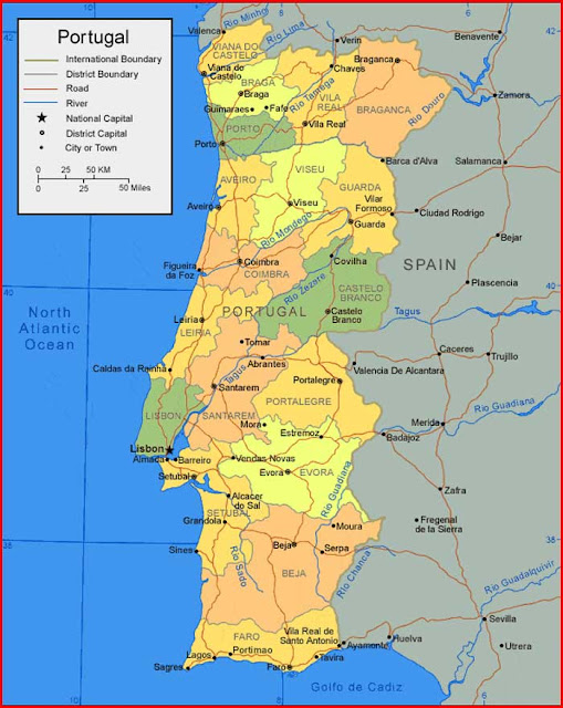Gambar Peta Portugal