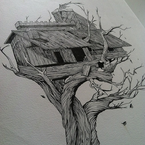 25-Tree-House-Muthahari-Insani-Beautifully-Detailed-Ink-Drawings-and-Doodles-www-designstack-co