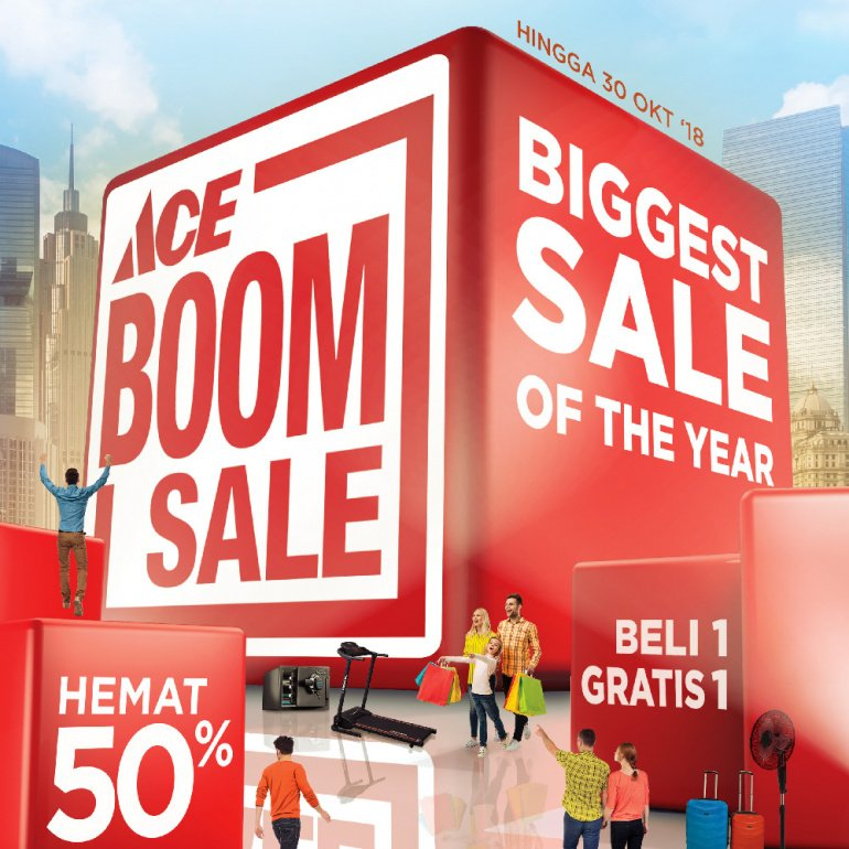 AceHardware - Promo Ace BoomSale Diskon s.d 50% Atau Buy 1 Get 1 Free