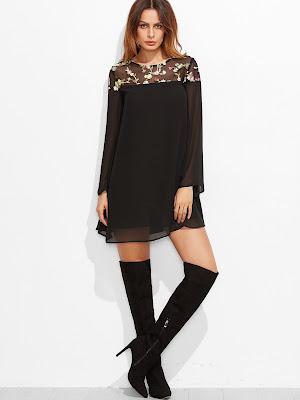 dress-vestito-nero-floreale