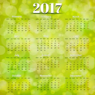 2017カレンダー無料テンプレート83