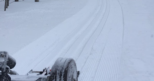 New snow rolled and tracked!