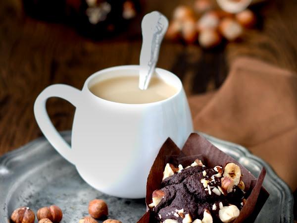 Muffins vegani al farro, cacao e latte di nocciola
