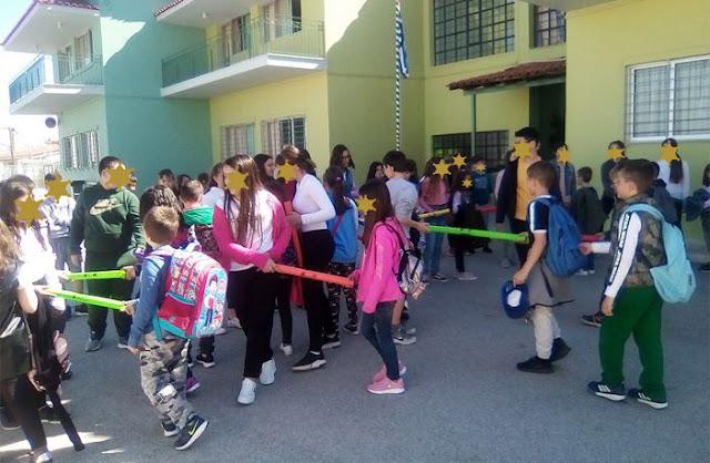 Μαθητές του 13ου Δημοτικού Σχολείου Καλαμάτας στο 6ο Δημοτικό Σχολείο Ναυπλίου