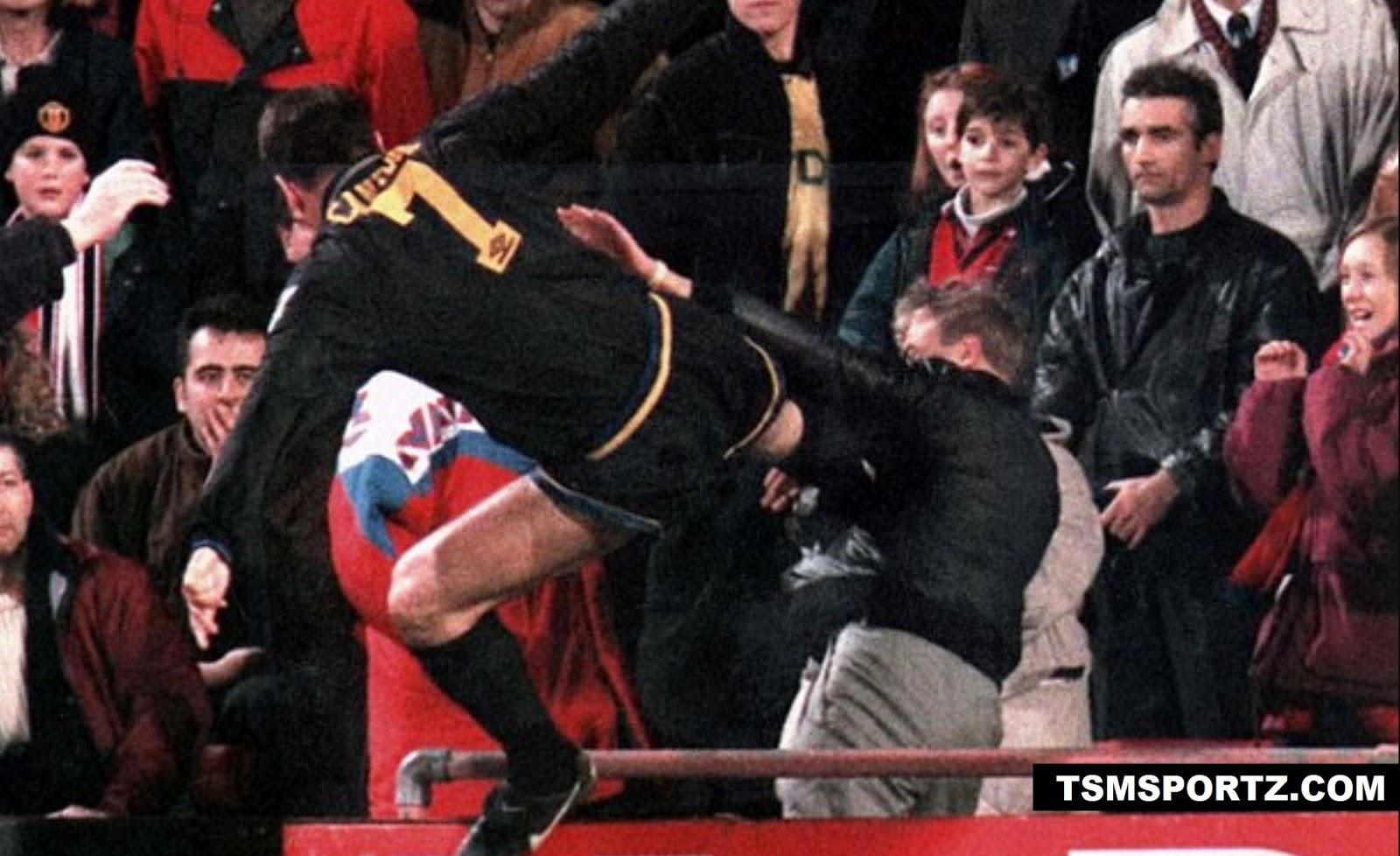 Cantona face 9 months long ban for hitting football fan
