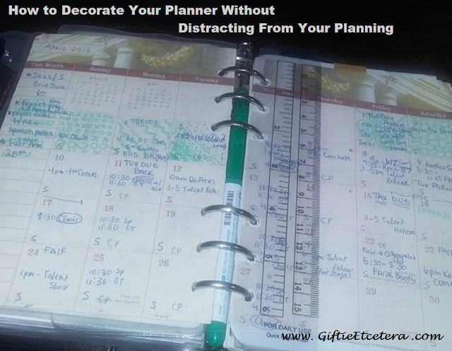 decorated planner, planner, planners, monthly planner