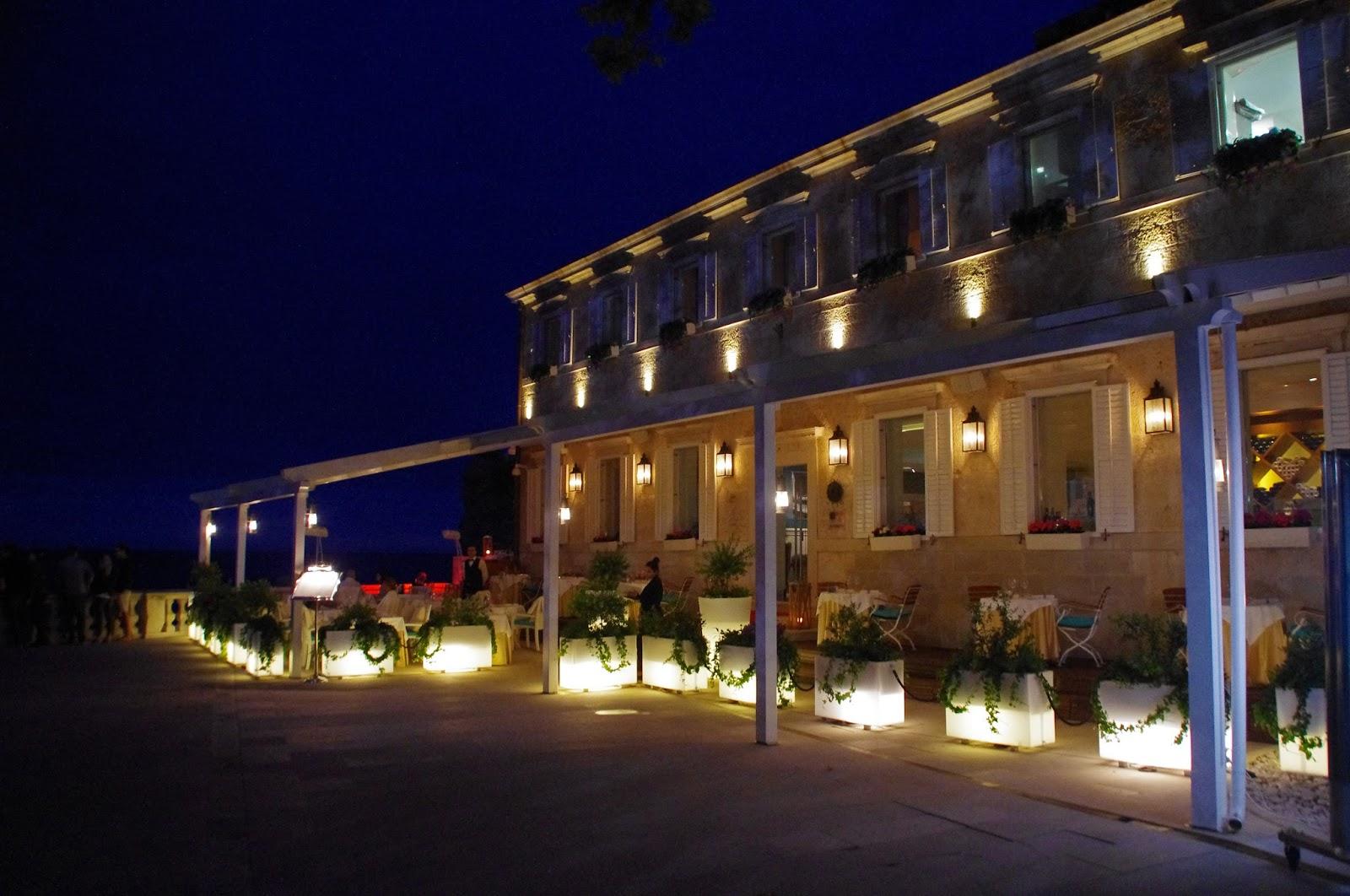 Nautika Restaurant Dubrovnik at Night